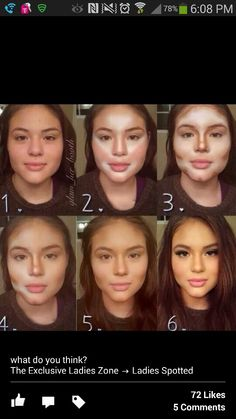 Step by step on how to contour your face