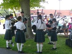 A local bagpipe group Scottish Festival, Group, Clothes, Outfits, Clothing, Kleding, Outfit Posts, Coats, Dresses