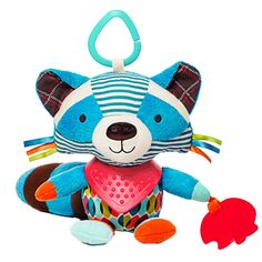 - So adorable plush animal toy rattles for baby - 3 great designs of raccoon, dog and elephant - Good size for holding in hands: 8 inches - Great for holding in hands or hanging on crib, stroller or m