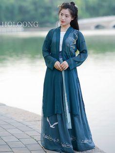 Ru skirt Mazarine Ruqun DarkBlue Women BeiZi Hanfu Clothing