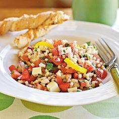 Peppery Monterey Jack Pasta Salad | CookingLight.com