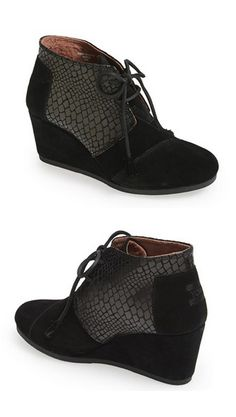 Love these wedge booties by TOMS http://rstyle.me/n/qhyvmnyg6