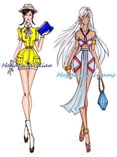 jane and kida illustration Disney Princess Sketches, Disney Princess Fashion, Disney Princess Art, Princess Style, Disney Art, Disney Fashion, Robes Disney, Disney Dresses, Hayden Williams
