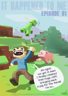 Pigs don't eat wheat anymore. Minecraft Humor, Minecraft Comics, Minecraft Drawings, Minecraft Fan Art, How To Play Minecraft, Minecraft Stuff, Awesome Stuff, Funny Stuff, Zombie Drawings