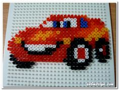 Pyssla Beads Lightning Mcqueen « Home Is Where My Heart Is…