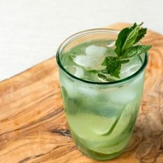 Muddled Mint and Lime Iced Tea recipe
