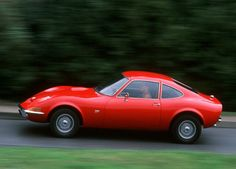 1968 Opel GT with slogan Only Flying is More Exciting, clasic car, legenda car