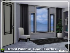Oxford Windows, Doors & Arches (29 Objects - 8 Swatches) - created by mutske