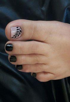Pedicure Designs, Pedicure Nail Art, Toe Nail Designs, Toe Nail Art, Pretty Toe Nails, Cute Toe Nails, Love Nails, Feet Nail Design, New Nail Art Design