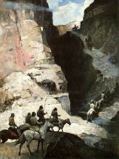 Questors Of The Desert by Frank Schoonover.