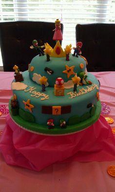 Mario Bros. Birthday Cake