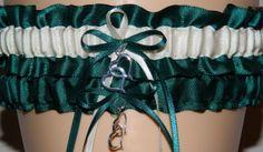 Hunter Green and Ivory Garter Wedding Garter by WeddingGarterStore, $10.99