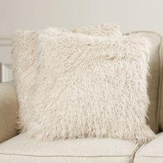 $70  Ralston Faux Sheepskin Throw Pillow (Set of 2)