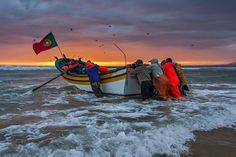 Portugal Heróis do mar! Pesca por Arte Xávega António Leão