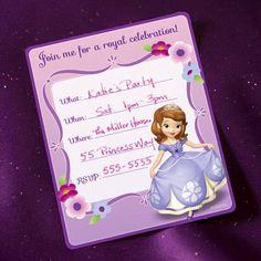 printable invitations  http://static.spoonful.com/sites/default/files/Disney-Junior-Sofia-the-First-Party-Invitations-printable-1012.pdf