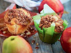 Äpplemuffins med havrecrumble