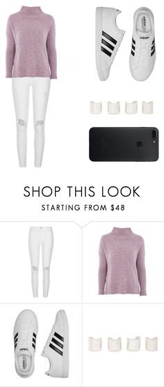 """Untitled #361"" by mindongalsxy ❤ liked on Polyvore featuring River Island, Topshop, adidas and Maison Margiela"
