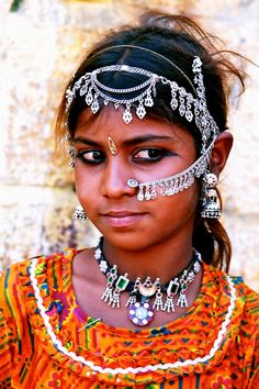 Young girl from Rajasthan, India