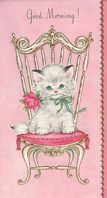 A cute vintage kitty card for you! Vintage Birthday Cards, Vintage Greeting Cards, Vintage Valentines, Vintage Postcards, Vintage Images, Vintage Ephemera, Ideias Diy, Cat Cards, Vintage Cat