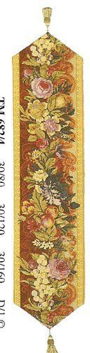 Table Runner, Tapestry Fabric, French Made - Elegant & Fine - Floral Belgian by BlessinglightUSA. $67.00. ++  Backed with Lining and finished with tassels at the end.    ++  Great as table runner, sofa accent or as a piano runner.