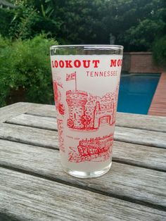 Vintage Souvenir Tumbler/Vintage Frosted Tennessee Glass/Lookout Mountain…
