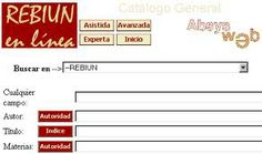 acceso al catálogo colectivo de Rebiun