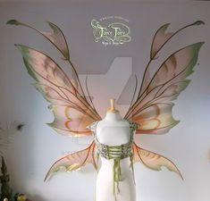 Extra Giant Kira Copper Iridescent Fairy Wings by FaeryAzarelle on DeviantArt