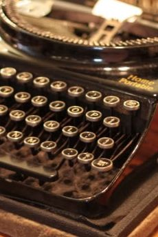 I TYPE ON MY OLD TYPEWRITER FOR MY SCRAPBOOKS AND NOTES