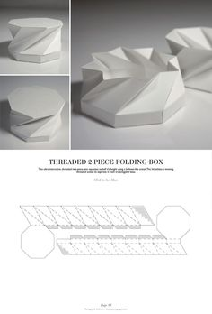 Threaded 2-Piece Folding Box - Packaging & Dielines: The Designer's Book of Packaging Dielines: