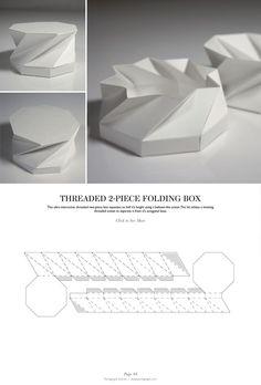 Threaded 2-Piece Folding Box - Packaging & Dielines: The Designer's Book of Packaging Dielines: