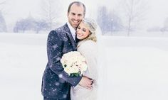 This Couple Married Mid-Blizzard And The Photos Made It All Worth It- Normandy farm justin Johnson photography Couple Picture Poses, Couple Pictures, Dads, Winter Pictures, Street Style Women, Spring, Picture Video, Vintage Dresses, Wedding Gowns