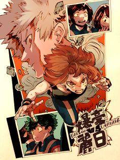 Boku no Hero Academia || Katsuki Bakugou, Uraraka Ochako, Kyouka Jirou, Tsuyu Asui, Midoriya Izuku, Fumikage Tokoyami, Midoriya Izuku.