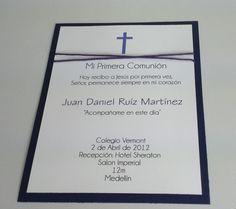 invitaciones de primera comunion elegantes