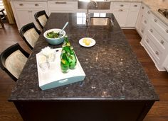 Labrador antique brown granite countertop