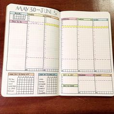 I can't believe it's almost June! A new layout for a new month. #plannernerd #bulletjournal