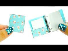 miniature dollhouse school binder - really works tutorial - school supplies l Dollhouse DIY ♥ - YouTube