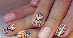 Beautiful Photo Nail Art: 45 Marvelous Tribal Nail Art Design