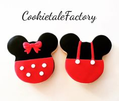 Minie & Mickey mouse cookies for concept birthday party