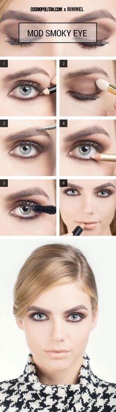 Best Ideas For Makeup Tutorials : Mod Eye Makeup Look – Mod Smoky Eye Makeup Tutorial – Cosmopolitan Sexy Eye Makeup, Smokey Eye Makeup, Hair Makeup, Mod Makeup, Retro Makeup, Brown Makeup, Brown Eyeshadow Tutorial, Smoky Eye Makeup Tutorial, Make Up Looks