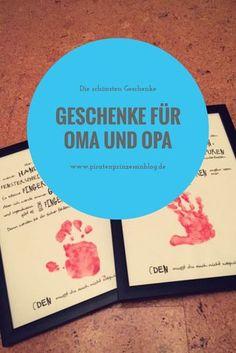 Geschenke für Oma und Opa zum Geburtstag, Weihnachten oder zu anderen Anlässen. Tolle Handabdruckbilder als Geschenk.