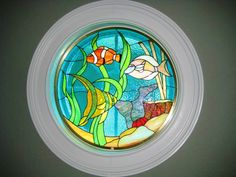 J&M Stained Glass, North Myrtle Beach, SC - Underwater fish scene.