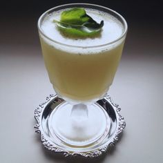 Basil Bugati | A new idea in Italian cocktails. Herbaceous and sweet, with a lot of depth on the tongue. You will take another look. #cocktailrecipe