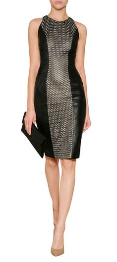Edgy and exquisite, this laser cut panel leather dress from Versace radiates tough-luxe attitude #Stylebop