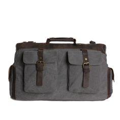 Vintage Style Canvas Leather Travel Bag Messenger Bag Shoulder Bag Dufulle Bag 1858