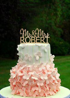 Rustikale Cake Topper Holz Cake Topper Monogramm von BLACKDESIGN01