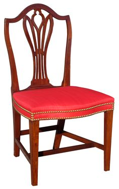 A Federal Carved Mahogany Side Chair (one Of A Pair); Annapolis, Maryland
