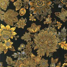 R Kaufman Grandeur  Pewter Paisley Floral