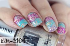 Fine lined mani from #glitterfingersss using BM-S104  from the Shangri La collection. #bundlemonster #nailart