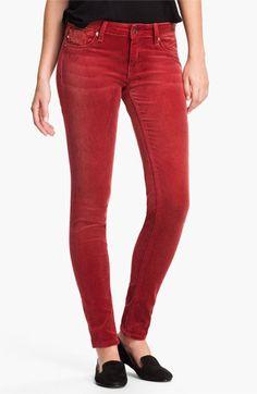 Vigoss Color Skinny Velvet Pants. I own a pair. Their awesome.  Love Vigoss!!