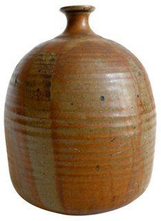 Midcentury Stoneware Vase